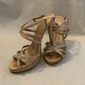 Aldo Gold Strappy Heels